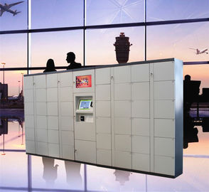 Chiny Lotnisko Train Station Baggage Locker With Credit Card Payment And Advertising Screen fabryka