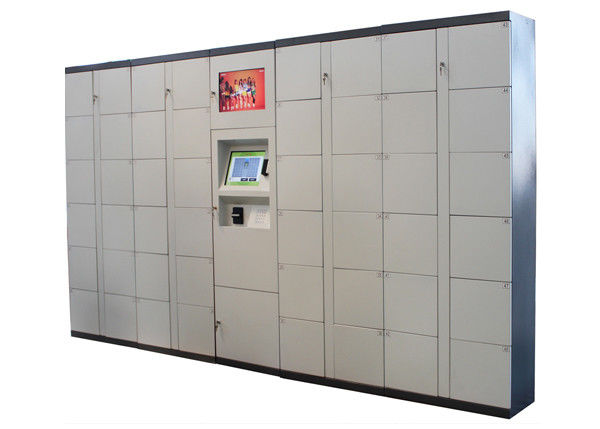 Supermarket Barcode RFID Twist Smart Digital Electronic Metal Storage Lockers 100 - 240V
