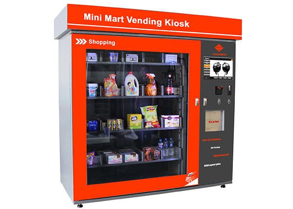 Touch Screen Mini Mart Vending Machine Business Station Automated Retail Coin / Bill / Card Operated